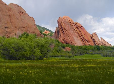 Red Rocks in Bloom -  Roxborough State Park,  Colorado