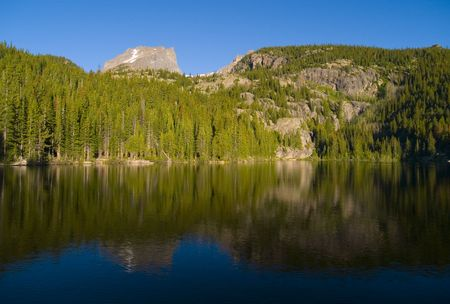 bear lake: Bear Lake Reflection - Rocky Mountain National Park