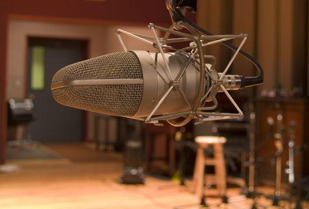 Studio Microphone Banco de Imagens
