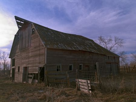 middle america: Evening for an Old Barn