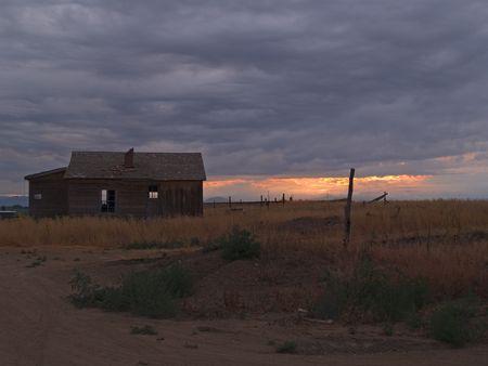 forgotten: Abandoned  - farm shack under storm, Colorado