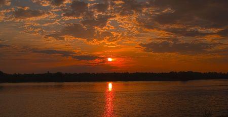 雲の絵画 - サウスダコタ 写真素材