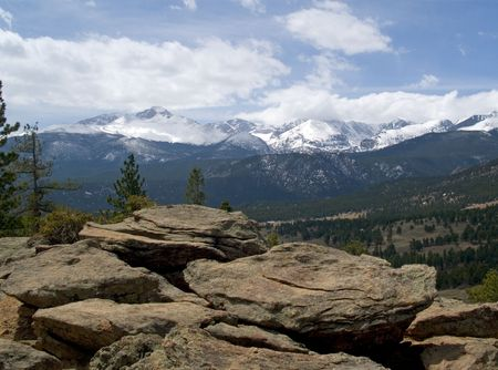View From Deer Mountain - Rocky Mountain National Park Stock Photo