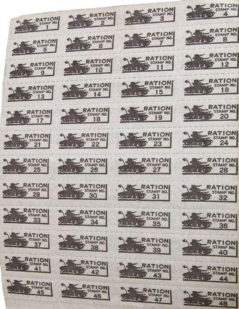 seconda guerra mondiale: Prenota Ration dalla Seconda Guerra Mondiale.