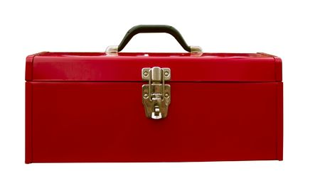 Red tool box used but still maintains its luster.