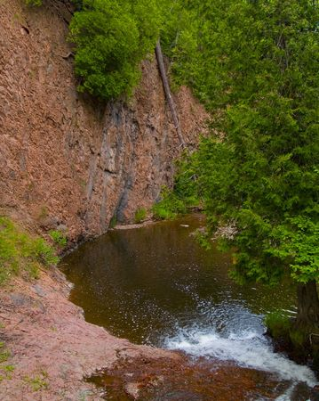 north woods: Pool in a river gorge in the North Woods of Minnesota