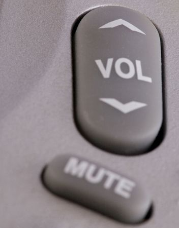 Volume and a diffuse mute buttons from a remote control