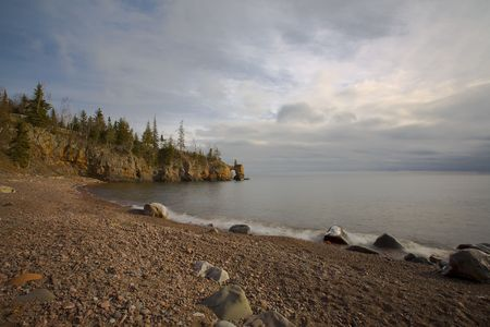 Tettegouche Park in November along the North Shore of Lake Superior in Minnesota