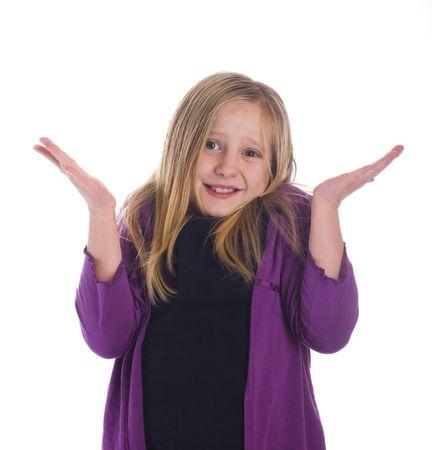 Girl I dont know ? shrugging her shoulders