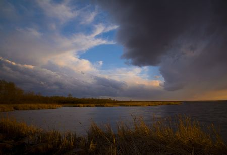 Storm over Wild Rice Lake in Northern Minnesota
