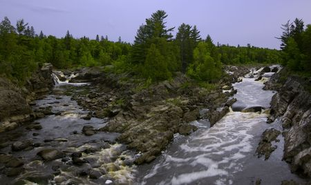 River Channels in Spring on the St. Louis River in Northern Minnesota Stock Photo