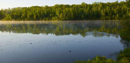 Minnesota summer morning at Deepwater Lake