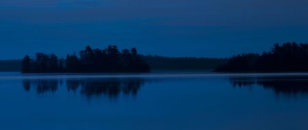 Island Lake in blue in the Northern Minnesota