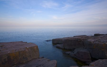 Stone and light on the North Shore of Lake Superior in Minnesota