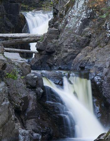Cascades waterfalls close up from Northern Minnesota