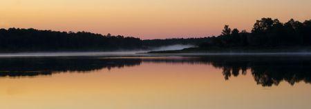 Still and Misty Morning at Fish Lake Minnesota