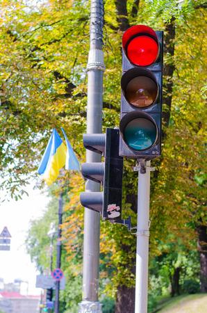 red light: Traffic light red