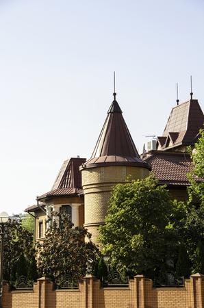 kiev: Modern house with a loft in Kiev. Stock Photo