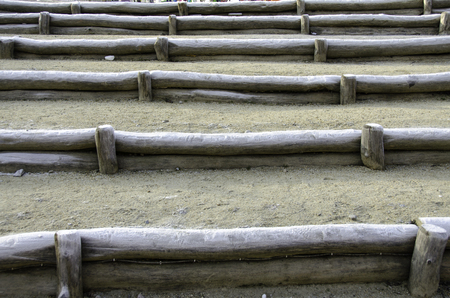 partitions: Partitions of logs. In sequence. Close-up. Stock Photo