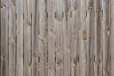 Texture of the fence made from vertical boards. Can be used as background. Close-up.