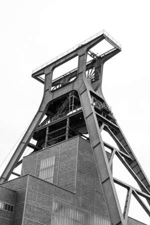 Historical rooftop of German coal mining building. Royalty free stock photo. Standard-Bild
