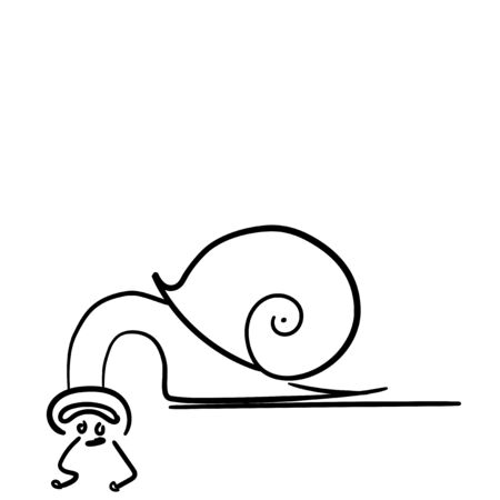 snail black and white weird funny upside down