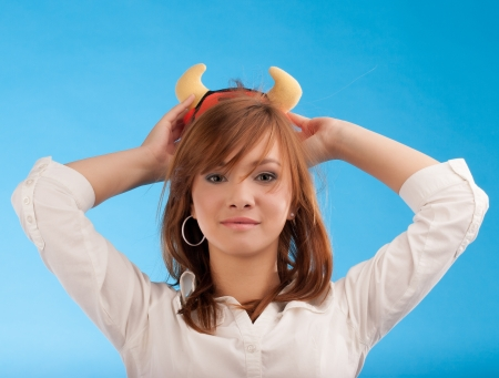 Girl with toy Stock Photo - 15871628