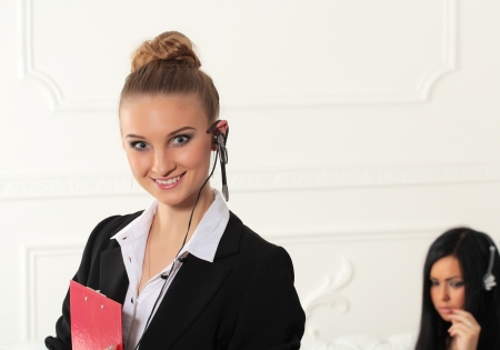 Girl from customer service Stock Photo - 17395072