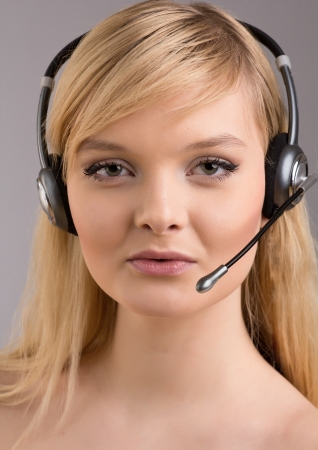 Girl from customer service Stock Photo - 17395075