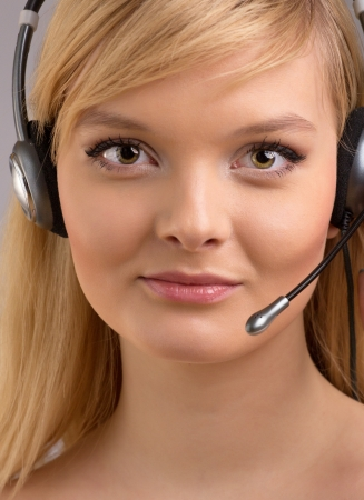 Girl from customer service Stock Photo - 17395081