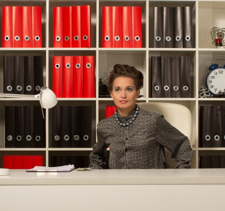 businesswoman holding business woman reading Stock Photo - 17395083