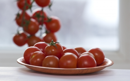 cherry tomatoes on a branch Stock Photo - 17587593