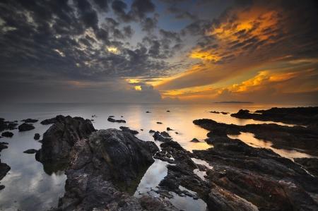Sunrise at Pandak Beach, Malaysia photo