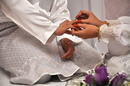 Malay traditional wedding ceremony photo