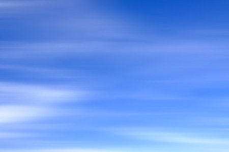 stratus: Long Exposure Of Blue Sky With Motion Clouds For Background