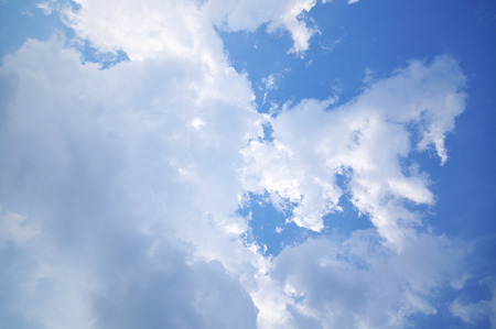 Clouds And Blue Sky For Background photo