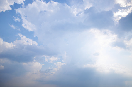 stratus: Clouds And Blue Sky For Background Stock Photo