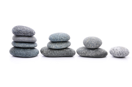 Zen And Spa Stone Over White Background photo