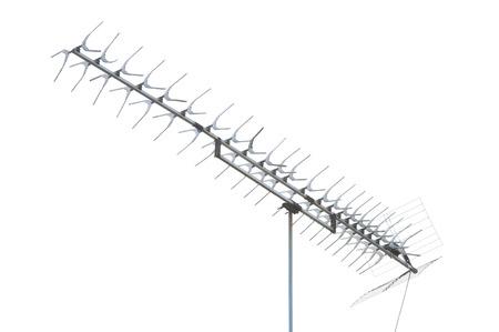 tv antenna: TV antenna isolated on white.