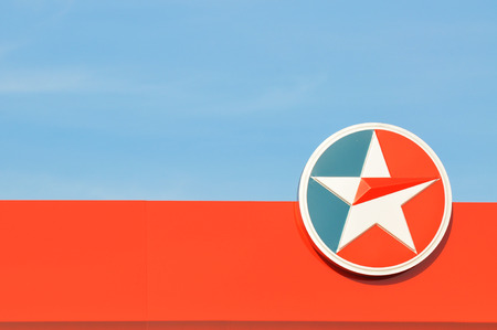 KUALA LUMPUR MALAYSIA -JUNE 9, 2015: CALTEX logo. Caltex is a petroleum brand name of Chevron Corporation used in more than 60 countries in the Asia-Pacific region.