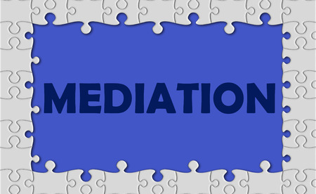 defendant: mediation with jigsaw border.