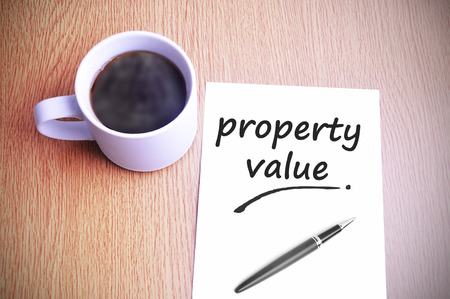 finer: Coffee on the table with note writing property value.