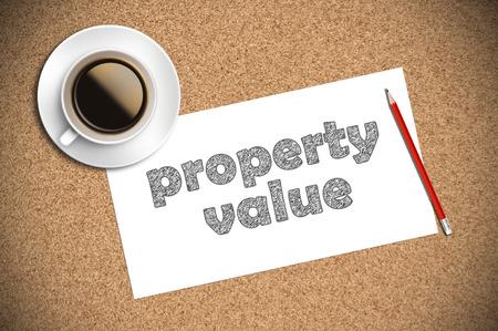 finer: el caf� y el dibujo a l�piz valor de la propiedad en el papel