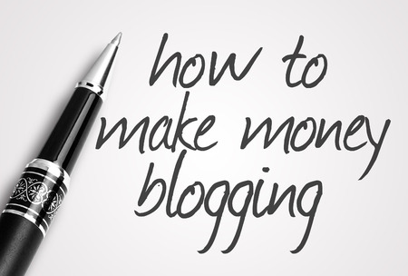 adwords: pen writes how to make money blogging on paper.