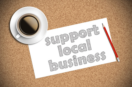 local business: coffee and pencil sketch support local business on paper
