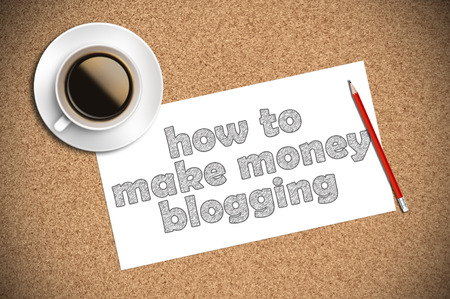 adwords: coffee and pencil sketch how to make money blogging on paper.