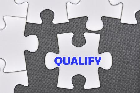 qualify: The jigsaw puzzle written qualify