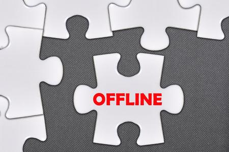 offline: The jigsaw puzzle written offline