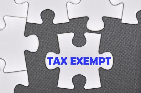 exempt: The jigsaw puzzle written tax exempt