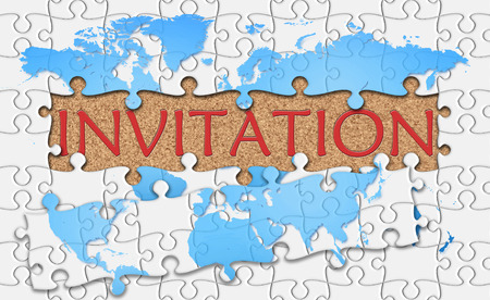 reveal: Jigsaw puzzle reveal  word invitation.